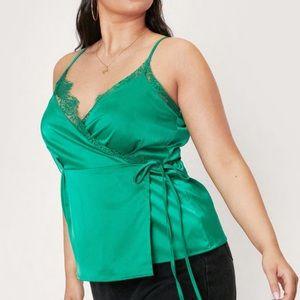 Emerald Green Satin Cami